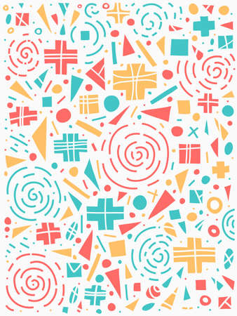 Geometric pattern 80s style. Colorful design