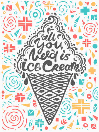 Conceptual art of ice cream with Quotes