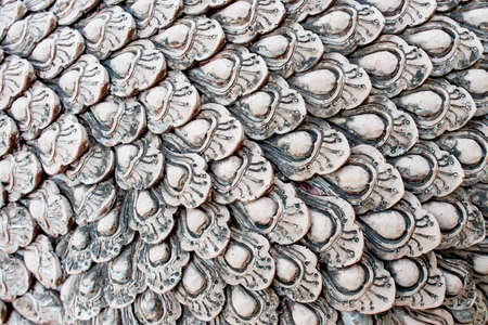 naga china: Scale dragon stone, dragon scales pattern Stock Photo