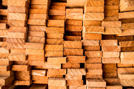 lumber mill: Pile lumber near a lumber mill, waiting for shipping.Wood Mill