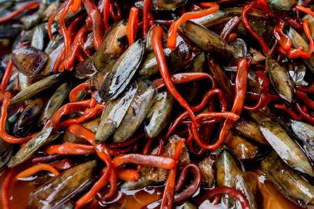 freshly prepared: Pickled Mussels,mussel,Freshly prepared blue mussels