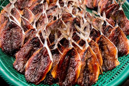 kipper: Dried fish,Stack of kipper isolated