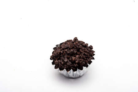 cafe bombon: chocolate candy isolated on white background,CRISPY CHOCOLATE COCONUT CUP WITH ALMOND