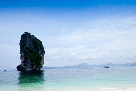 pinnacle: Green Pinnacle Sea Scene