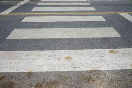 crosswalk: Crosswalk On the street.