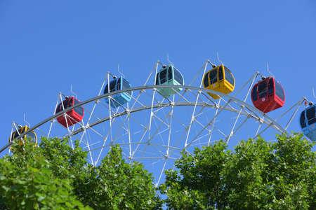 Ferris Wheel,Observation Wheel in sunny day Editorial