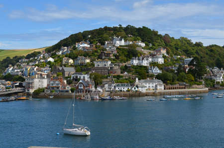 devon: The River Dart, Dartmouth, Devon, England looking at Kingswear