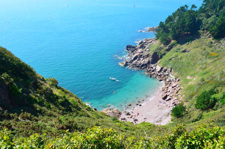 cove: Secluded Beach Stock Photo