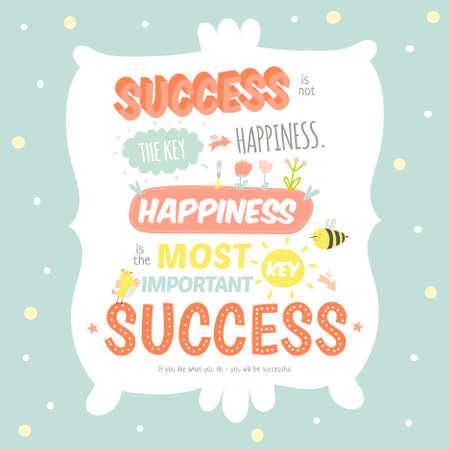 lindo: Tarjeta de felicitaci�n con ilustraci�n vectorial lindo y car�cter y tipogr�fica. Inspirado y citas de motivaci�n del cartel. Bueno para felices saludos de cumplea�os y otras fiestas.