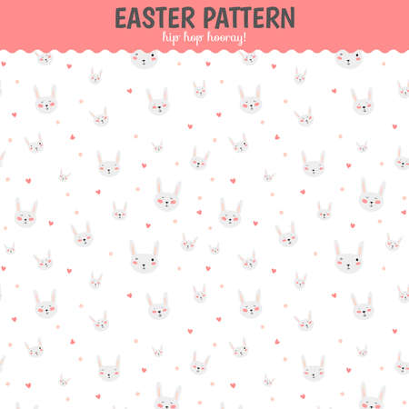 cute wallpaper: Cute funny seamless pattern with sweet cupcakes, bunnys, hearts, stars, ribbons, lollipops. Best for textures, wallpaper, wrapping, scrapbooking. Lovely romantic Easter background in vector