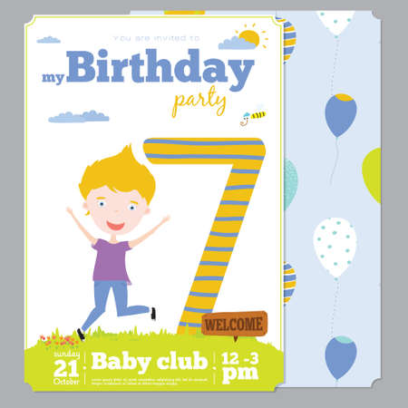 Birthday anniversary numbers with cute animals and kids and birthday birthday anniversary numbers with cute animals and kids and birthday party invitation card template in cartoon filmwisefo