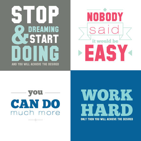 fitness motivation: Collection of unusual motivational posters on the sport, healthy lifestyle and fitness for men and women. Vector template with fitness icons on white background.