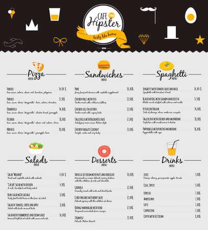 レストラン、カフェのメニュー デザインの大きなロゴのセットです。ベクトル テンプレート ロゴ。料理アイコン、ラベル、花輪およびヒップ スタ