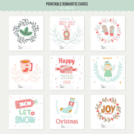 congratulations: Romantic and love cards, notes, stickers, labels, tags with Spring illustrations. Template for scrapbooking, wrapping, congratulations, invitations. Lovely vector wishes with cute animals and sweets