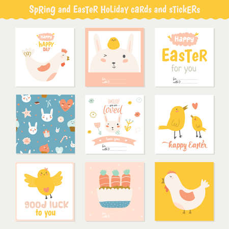 Beautiful collection of easter greeting cards gift tags stickers beautiful collection of easter greeting cards gift tags stickers and labels templates in vector negle Gallery