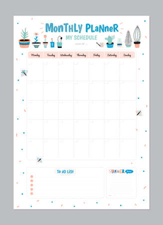 weekly daily planner template