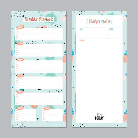 Scandinavian Weekly And Daily Planner Template. Organizer And ...
