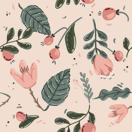 motif scandinave floral printanier