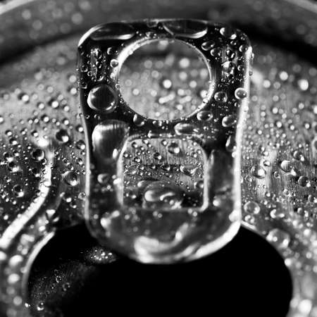 ring pull: The ring pull of a soft drinks can that Stock Photo
