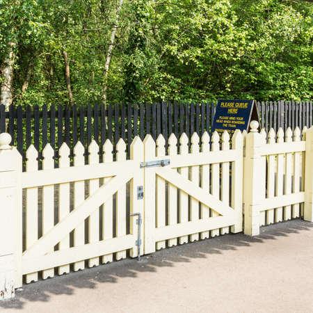 exbury: Fences at Exbury Central railway station