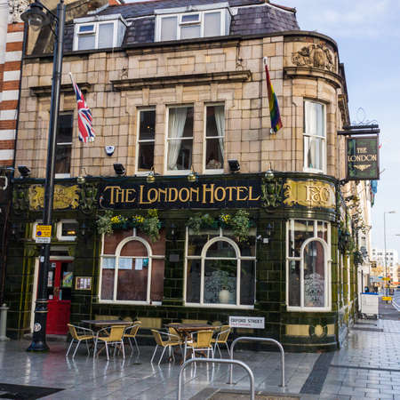 A shot of The London Hotel public house situated in Oxford Street, Southampton, Hampshire, UK