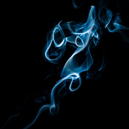 wisp: The abstract pattern made from smoke rising from an incense stick