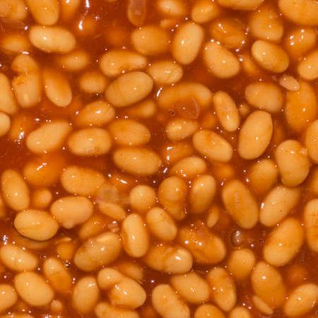 Domates sos bazı pişmiş fasulye bir yakın çekim çekim