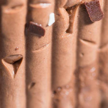 A macro shot of a chocolate cake  photo