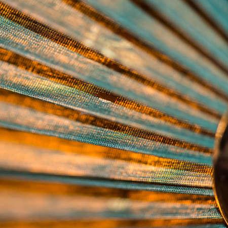 lampshade: An abstract macro shot of a lampshade. Stock Photo