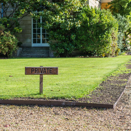 exbury: A shot of the Private sign in the grounds of Exbury Gardens