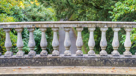 A shot of the stonework balustrade of a bridge  Stock Photo