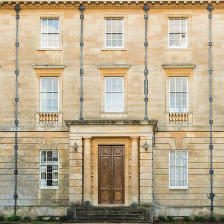 exbury: A shot of the front facade of Exbury House. Stock Photo