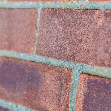 Bir tuğla duvar soyut bir makro çekim. Stock Photo