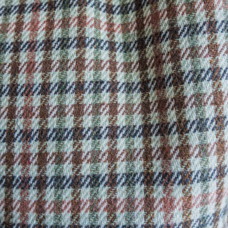 cloth cap: A macro shot of the pattern of a cloth cap. Stock Photo