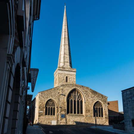 A shot of St Michael's Church in Southampton, Hampshire, UK.