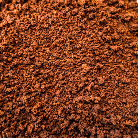 instant coffee: An abstract macro shot of the top of a jar of instant coffee.
