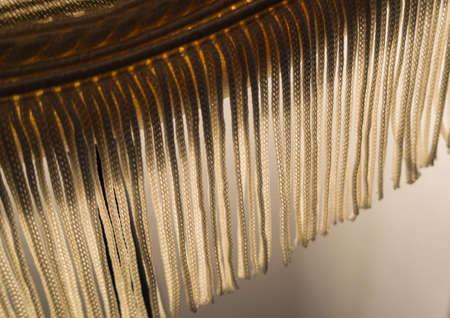 lamp shade: An abstract macro shot of the fringe of a lamp shade.