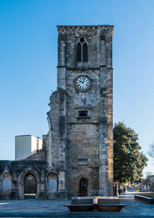 rood: A shot of Holy Rood church in Southampton, Hampshire, UK. Stock Photo