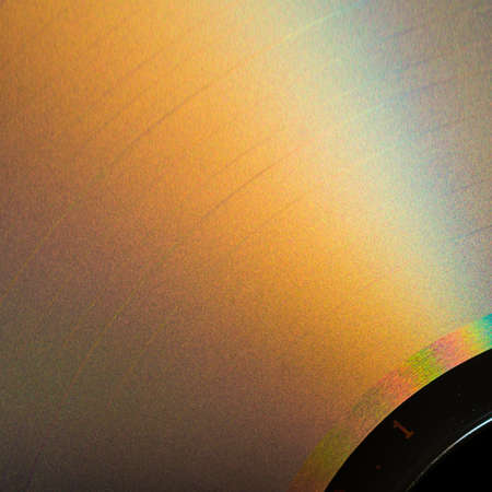 compact disc: Sunlight plays across the surface of a compact disc.