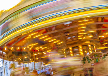 A Christmas merry-go-round in Southampton city centre on the run up to Christmas.