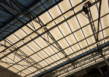 roof structure: An abstract shot of some skylights in a roof structure. Stock Photo