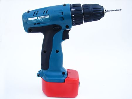reciprocate:                             Cordless driver drill isolated on a white background
