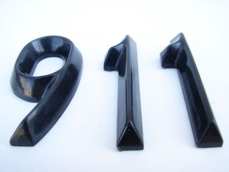 mislead: 911 three d numbers in perspective isolated