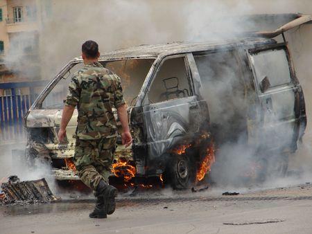 burning van Stock Photo - 899308
