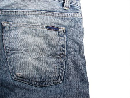 back pocket: jeans closeup