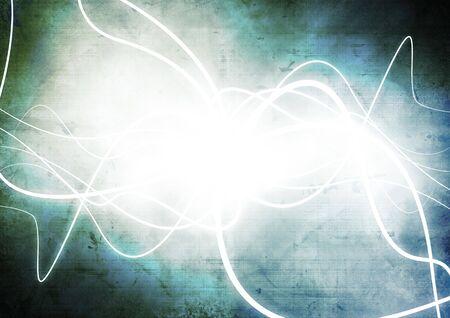 futuristic background blue motion neon light curves photo