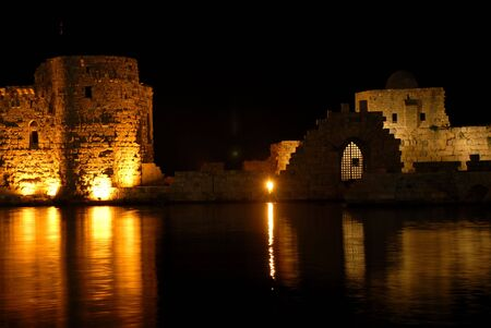 arhitecture: beautiful old castle at night