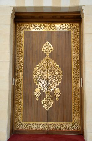 door of a mosque photo