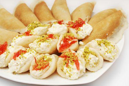 baklava: baba ghanoush arabian sweet  Stock Photo