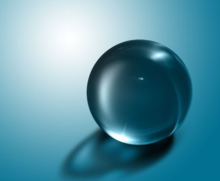 flickr: 3d crystal ball against a backdrop background
